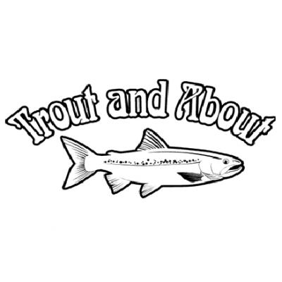 Trout black clipart