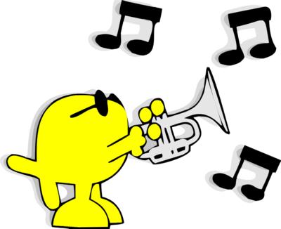 Trumpet clip art free co