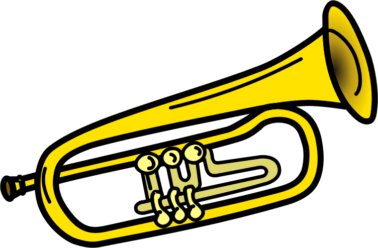 Trumpet notes clipart clipart kid