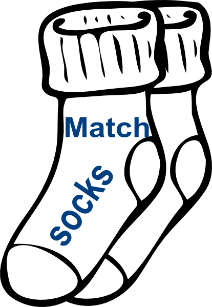 Chore match socks clip art vector clip art free