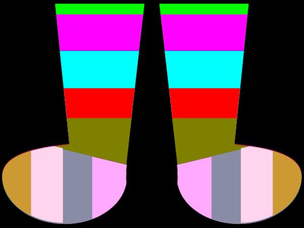 Clip art crazy socks clipart clipart kid 5