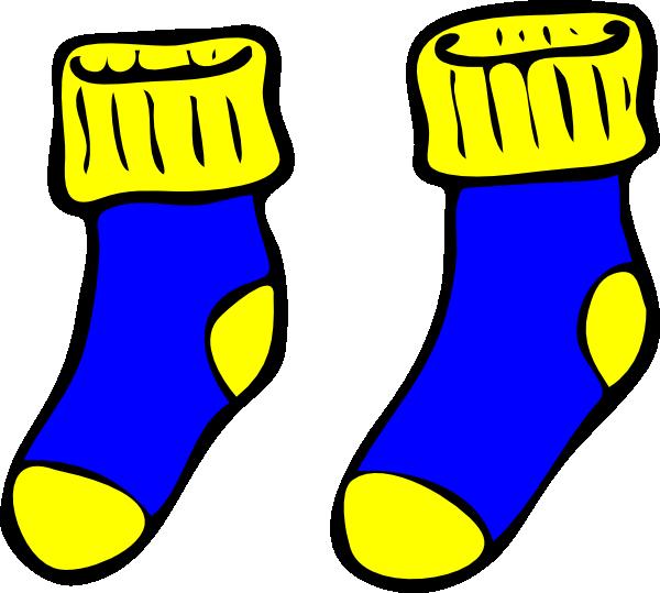 Clip art yellow socks clipart