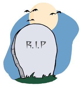 Headstone grave clipart