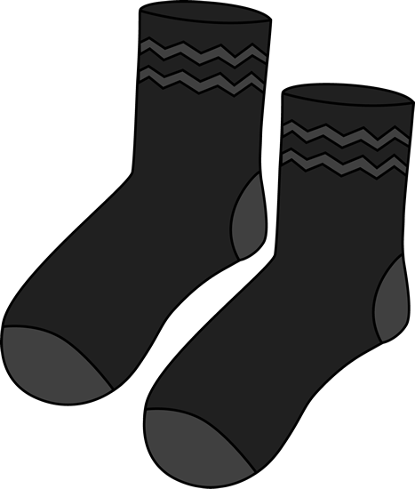 Pair of black socks clip art free clipart images