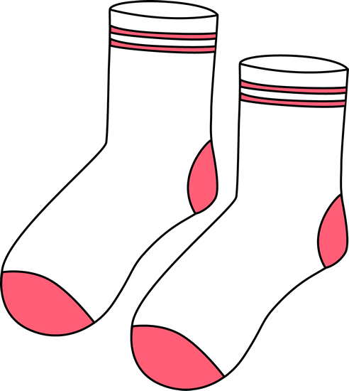 Pair of white and pink socks clip art pair of white and pink