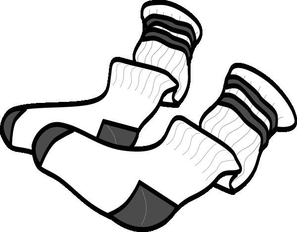 White socks clip art clipart