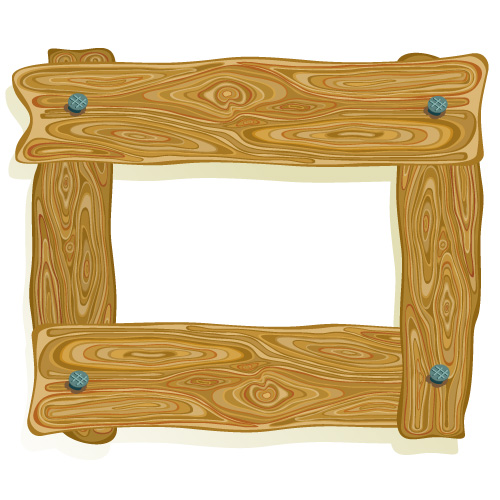 3 wood frame border clip art free vector 4vector
