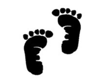 Black baby feet clipart