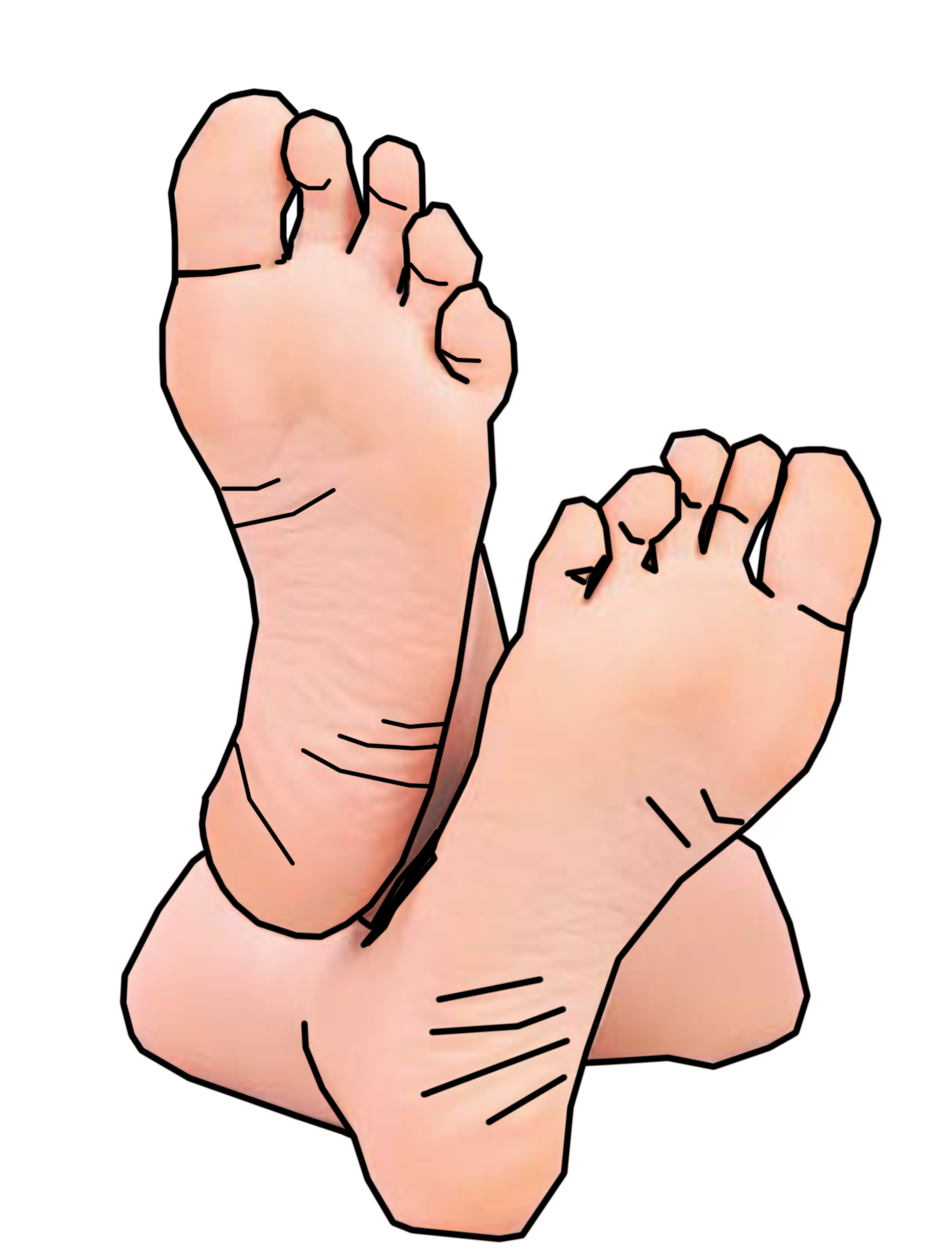 Feet outline clip art free clipart images 3 image #38068
