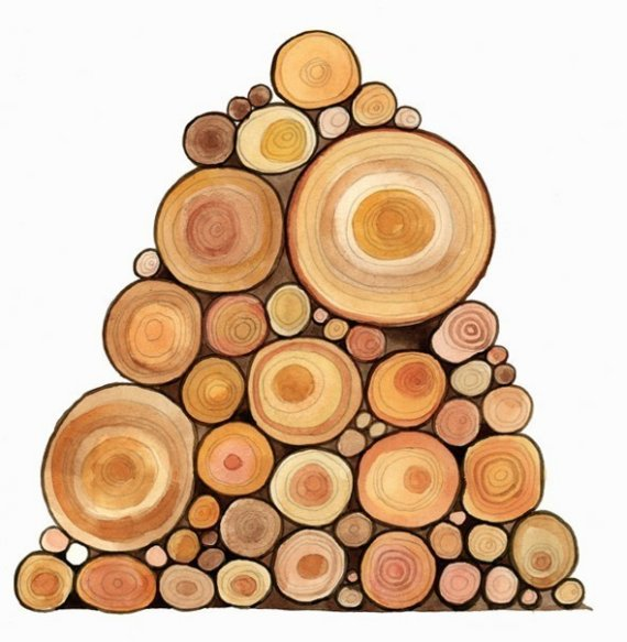 Stack of wood clipart