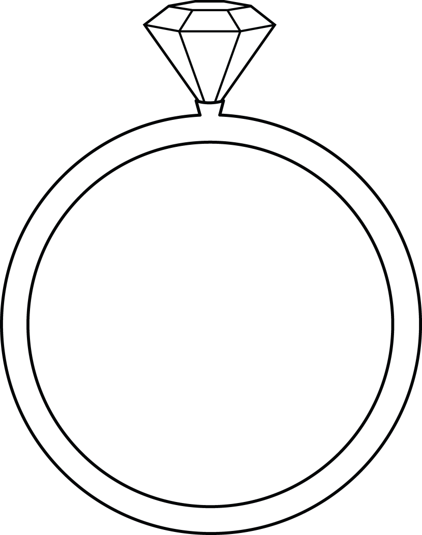 Free black and white wedding rings clipart image 37950