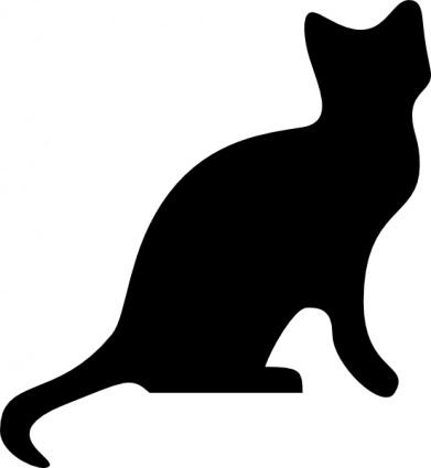 Black cat clip art free clipart 2