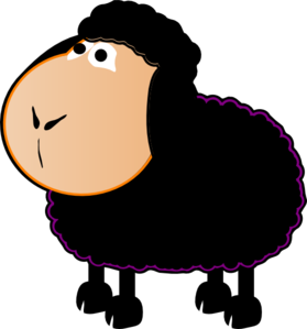 Black sheep clip art at clker vector clip art