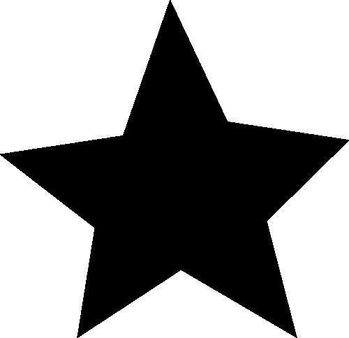 Black star clip art black star image