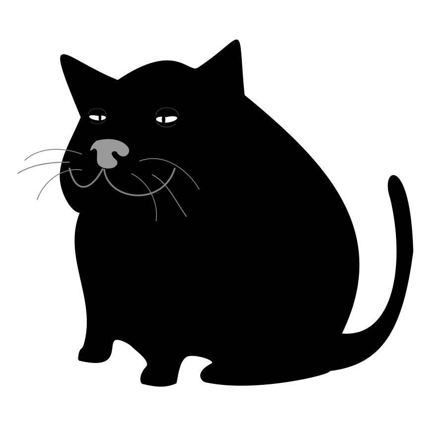 Clip art black cat co