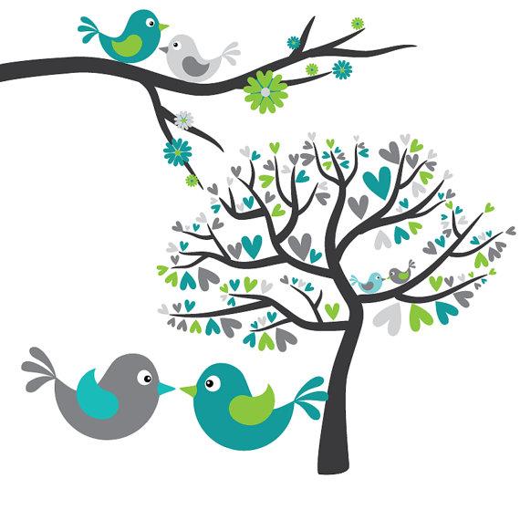 Free clip art love birds clipart