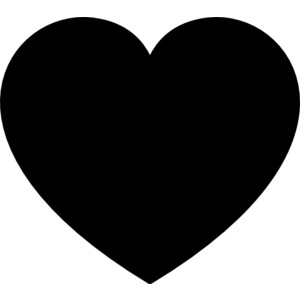 Rustic heart clipart black and white clipart