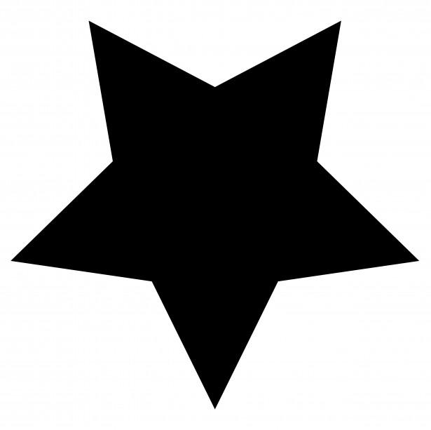 Star clip art outline black and white free