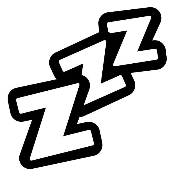 Zzz black clipart