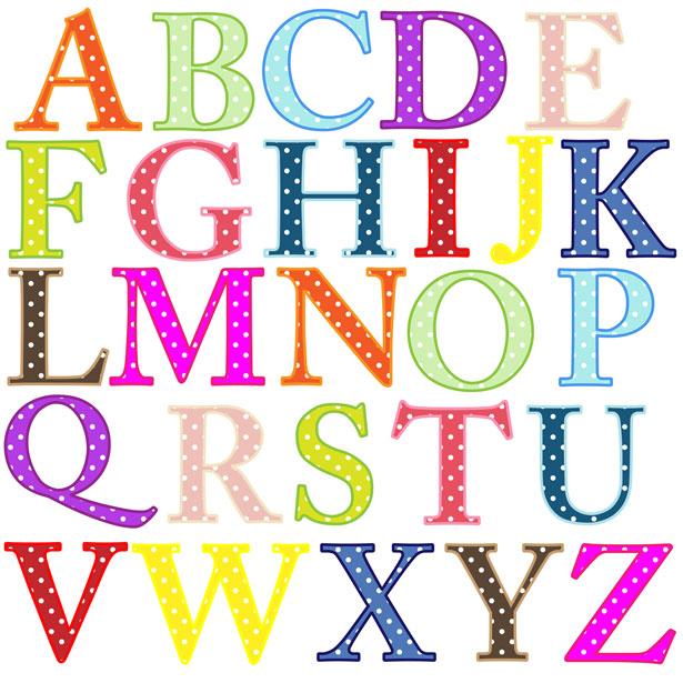 Abc alphabet letters clipart