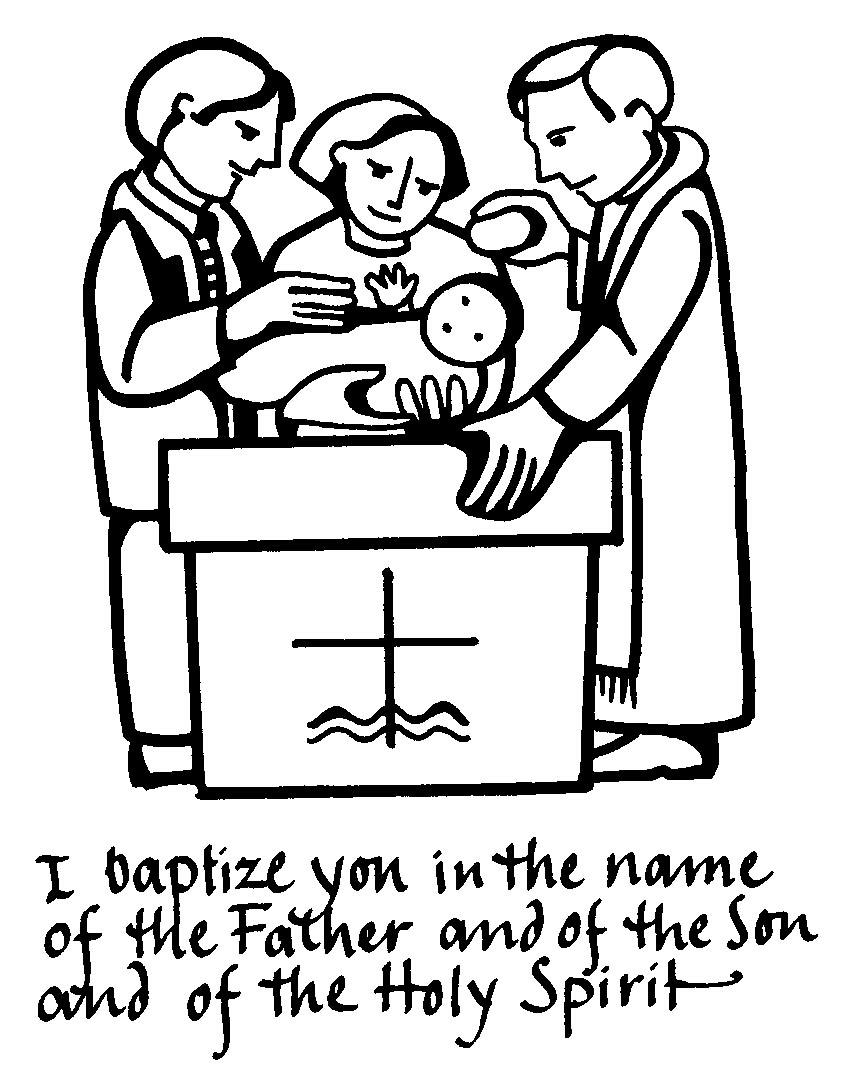 Baptism symbols clipart