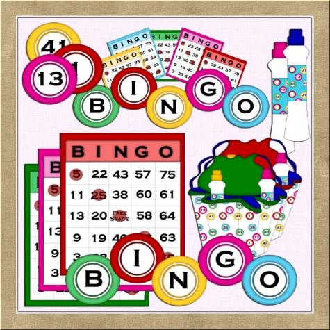 Bingo clip art 1 graphics shoppe