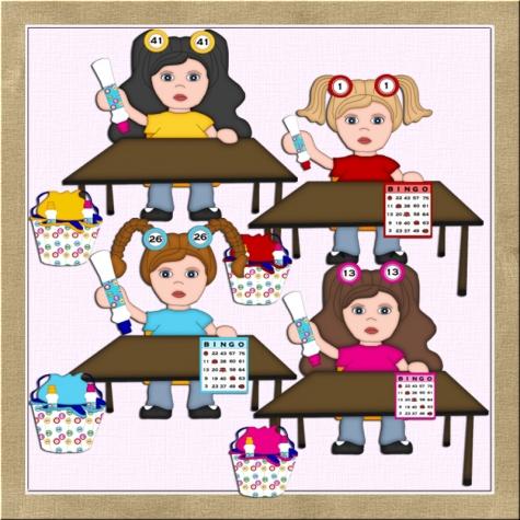 Bingo games clip art graphics shoppe