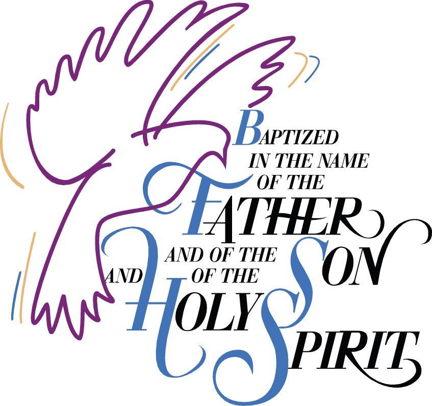 Catholic baptism symbols clipart