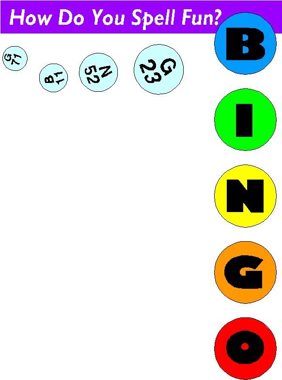 Clip art clip art bingo 2