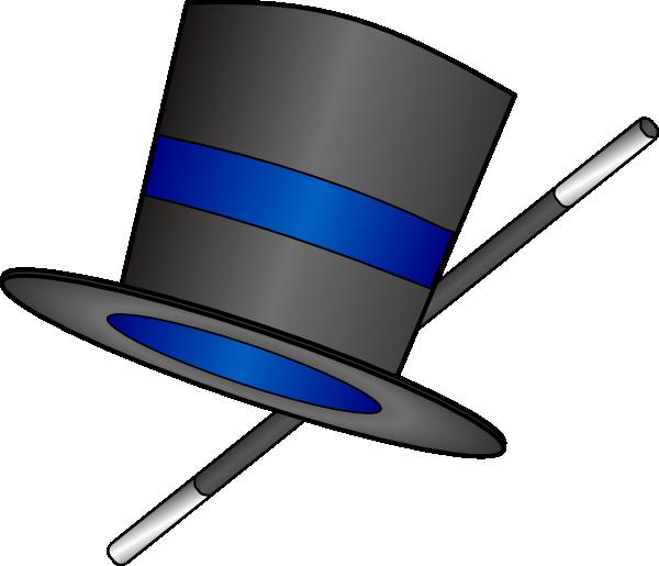 Top hat magic hat clip art clipart image