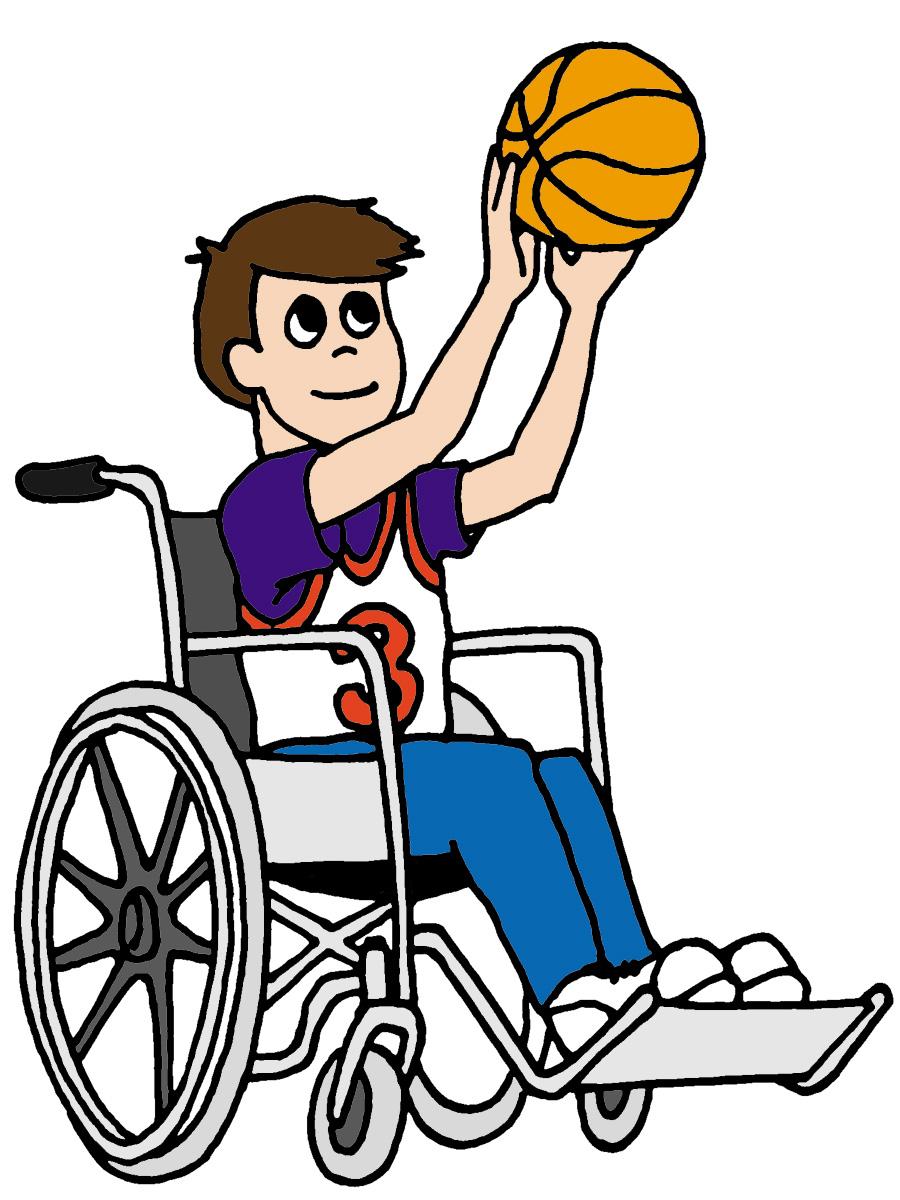 Wheelchair basketball clipart