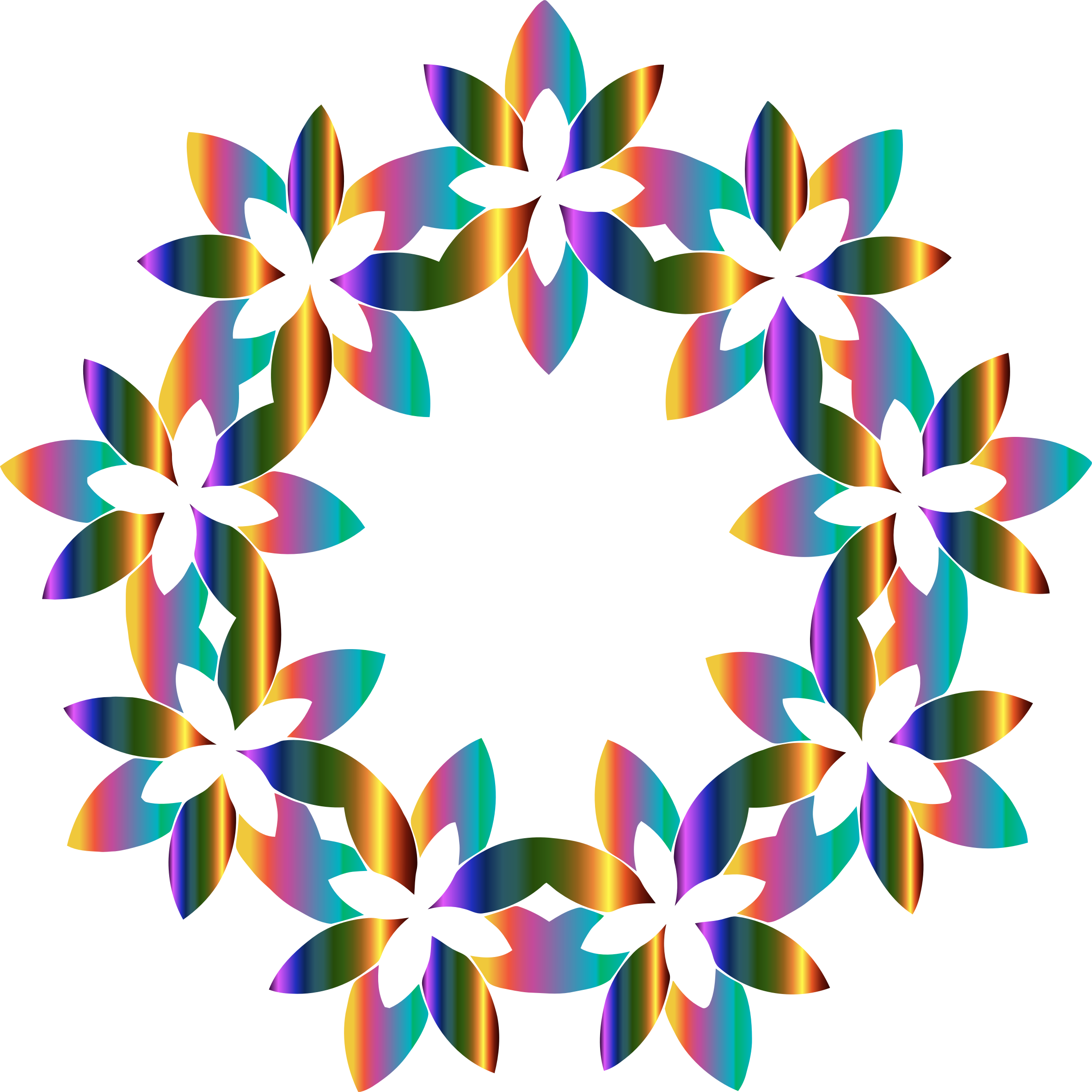 Clipart abstract floral design