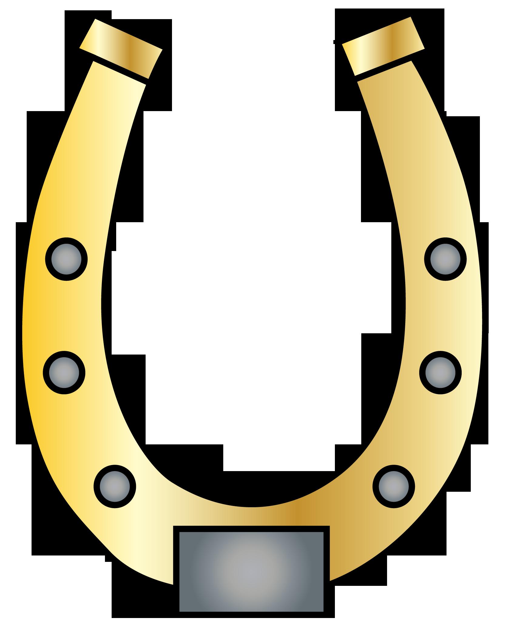 Gold horseshoe clipart clipartix