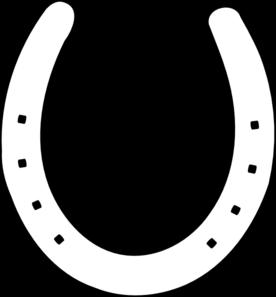 Horseshoe template printable clipart