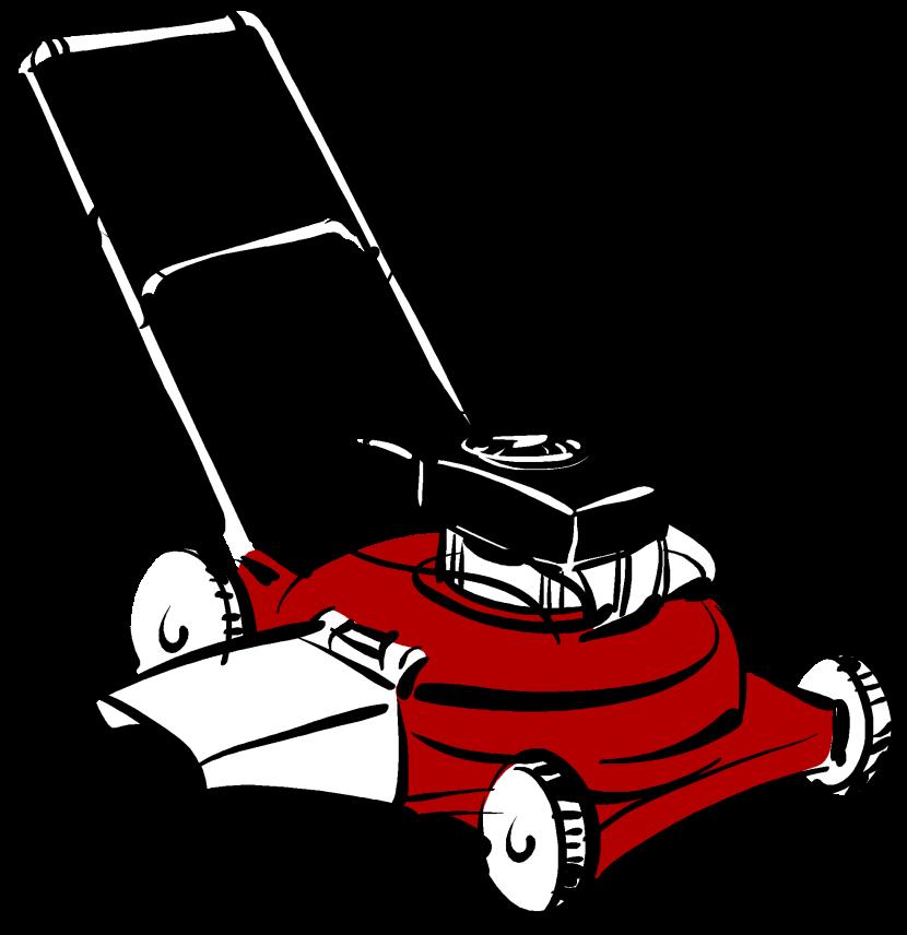 Lawn mower clipart 2
