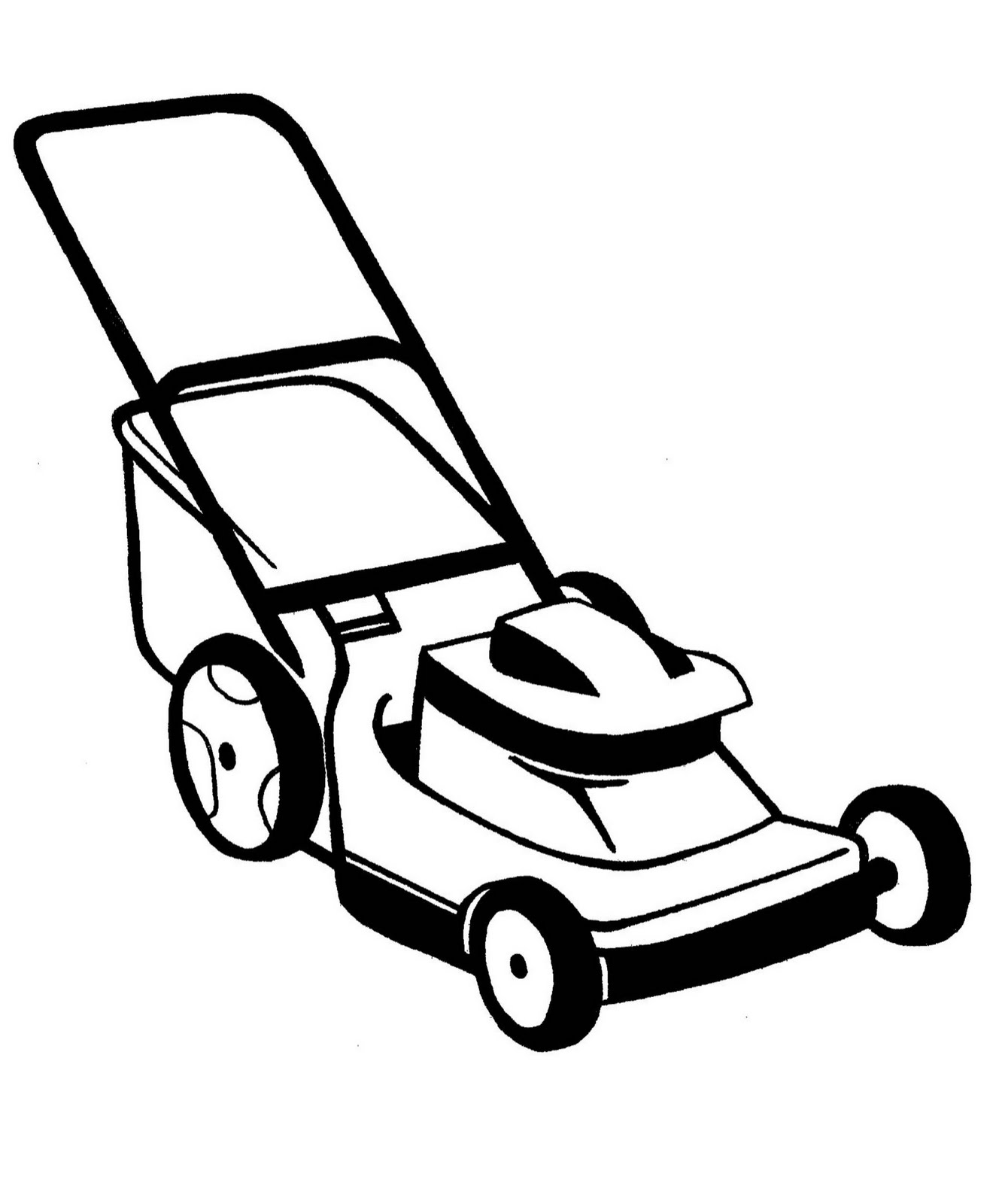 Lawn mower clipart 4