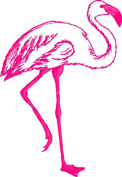 Flamingo clip art free free clipart images 4 clipartix 2