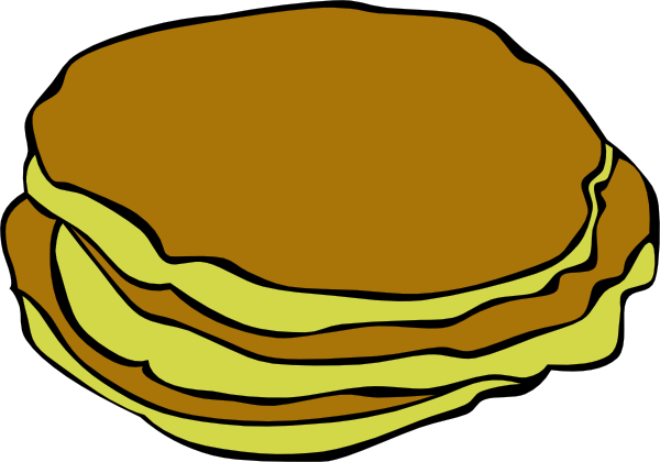 Pancake clipart the 3 image #40121