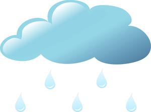 Raindrops clip art 3