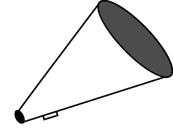 Cheer megaphone clipart black and white free 3 clipartix 2