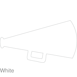 Cheerleading Megaphone Clipart Black And White - Megaphone Svg - Png  Download - Full Size Clipart (#471539) - PinClipart