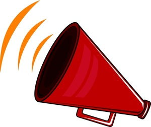 Cheer megaphone red cheerleading megaphone clip art clipartix