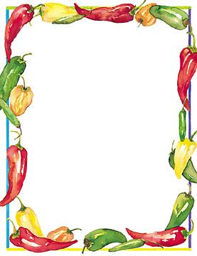 Chili pepper border clipart 6