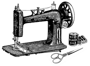 Free vintage sewing machine clipart