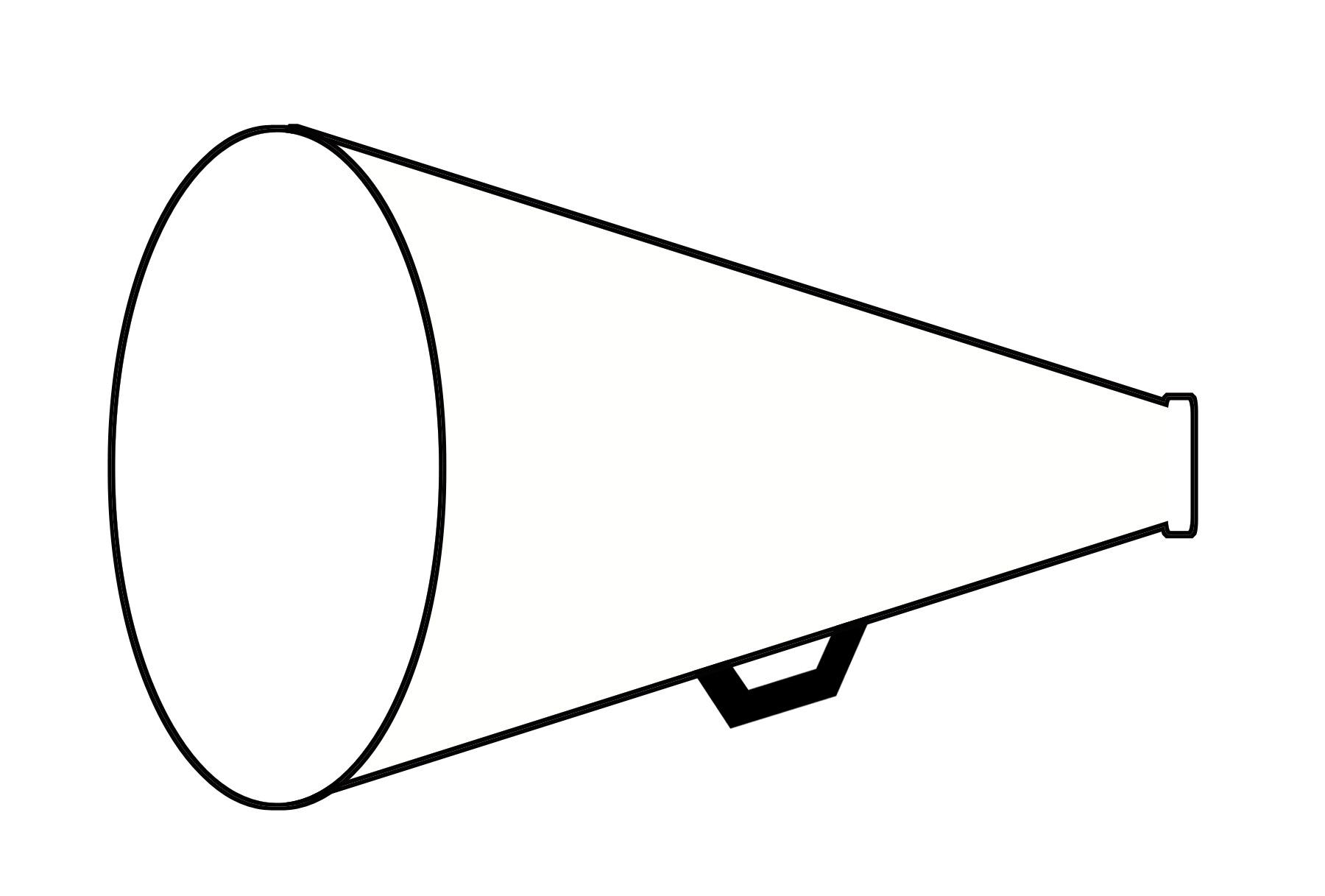 Image of cheerleader megaphone clipart 4 cheer megaphone clip