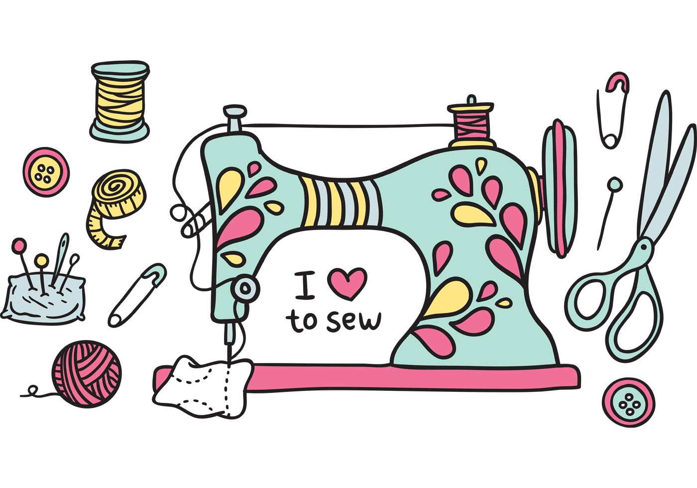 sewing machine sewing needle free vector art free downloads clip art image  40416