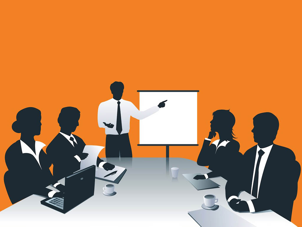 Business for presentations clipart