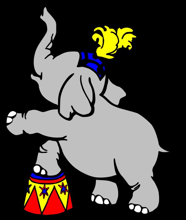 Circus elephant clipart clipart kid