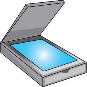 Clip art document scanner clipart