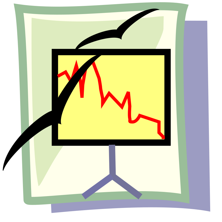 Presentation document clipart vector clip art